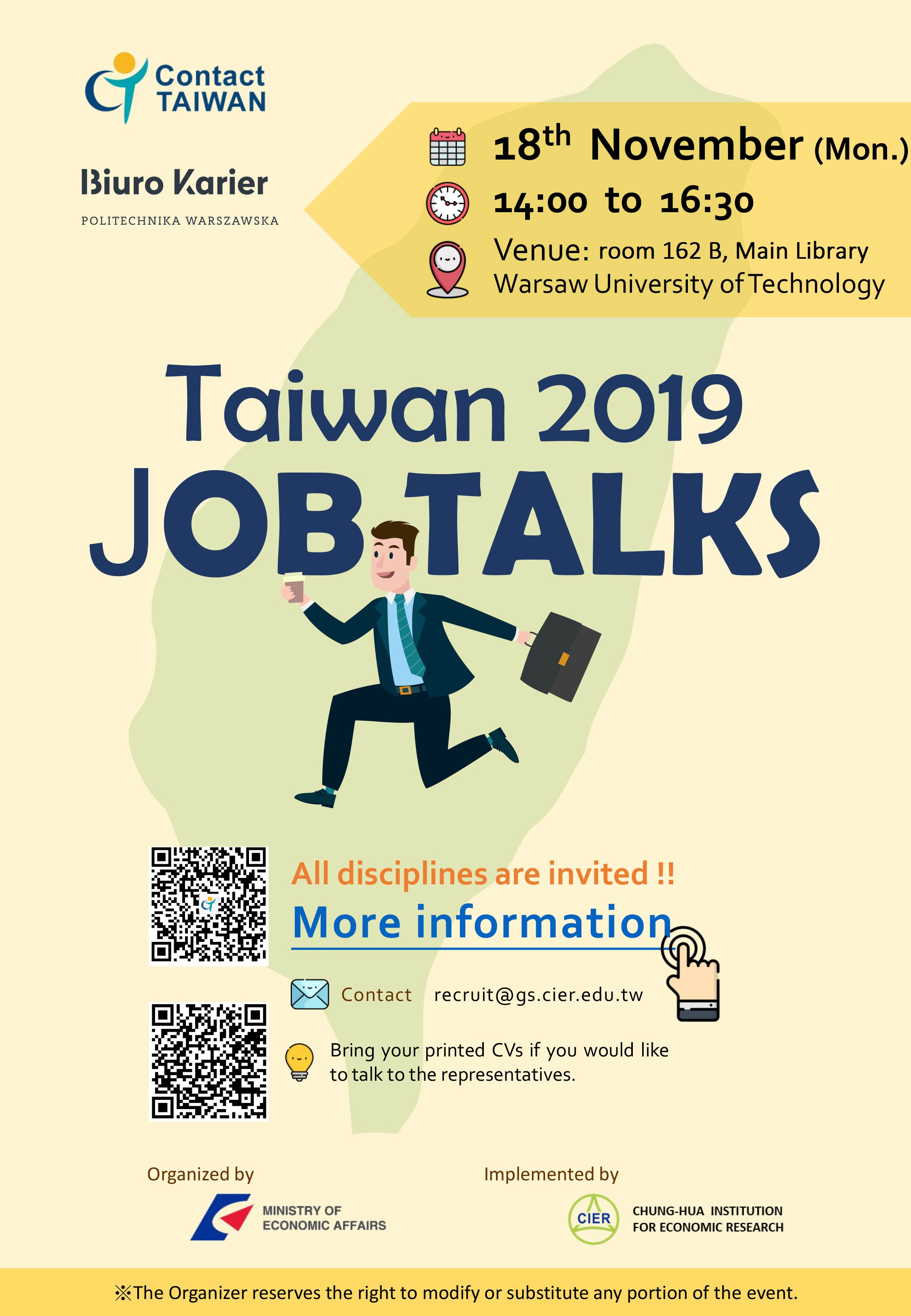 Taiwan Job Talks - event for Polish and international students