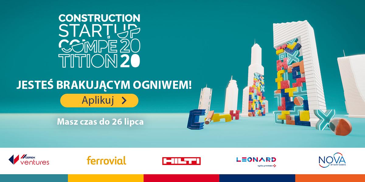 Liderzy branży budowlanej ogłaszają globalny konkurs dla start-upów