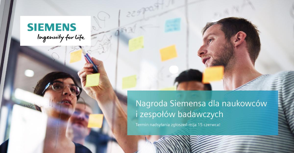 """Nagroda Siemensa """"znakiem jakości"""" prac badawczych"""