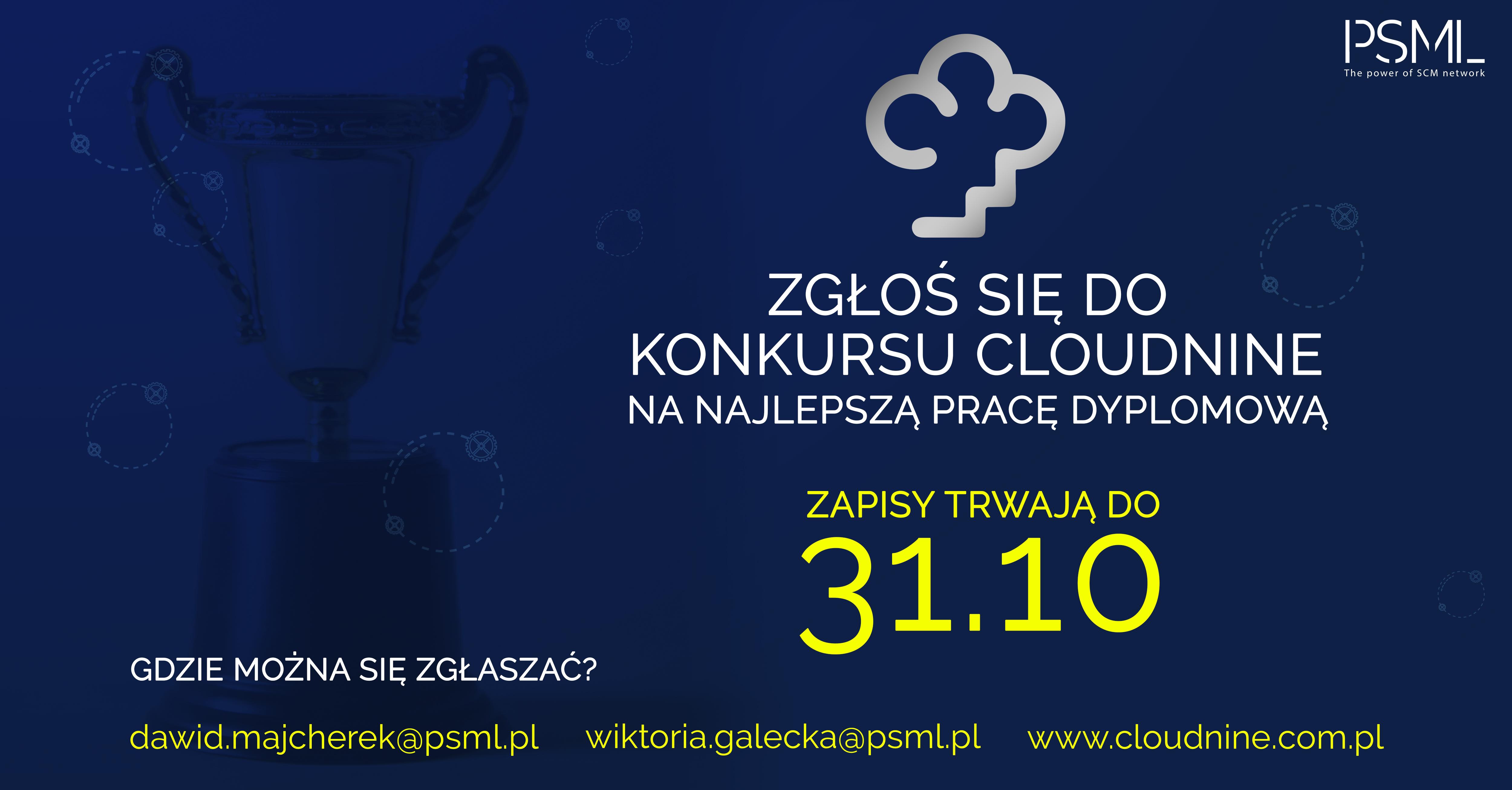 Konkurs na Najlepszą Pracę Dyplomową w ramach II edycji wydarzenia CloudNine