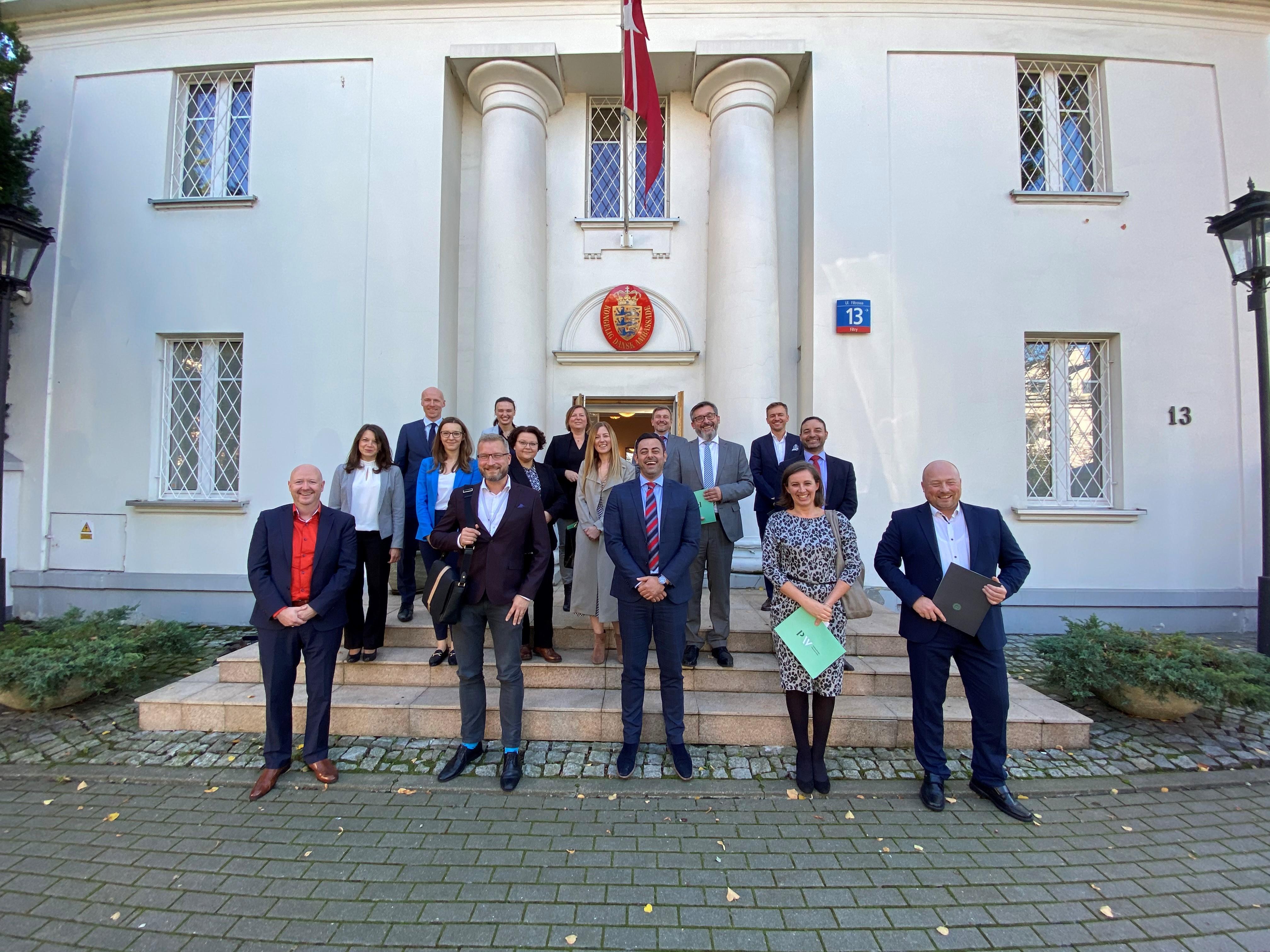 Wizyta Biura Karier PW w rezydencji Ambasadora Królestwa Danii