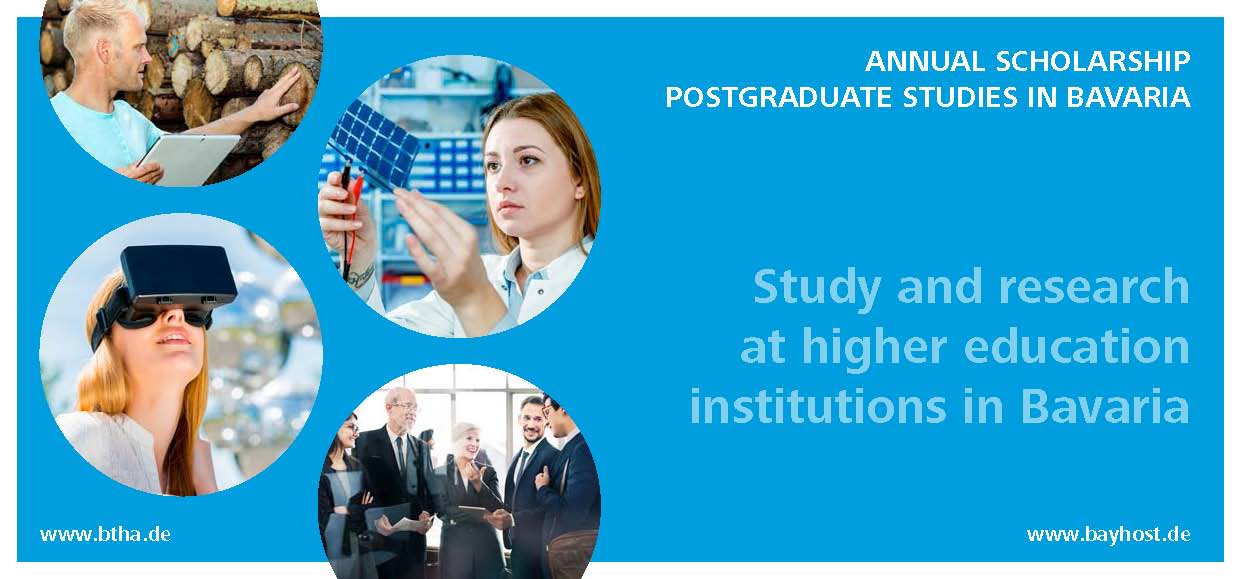One-year scholarship program by the Free State of Bavaria 2021/22