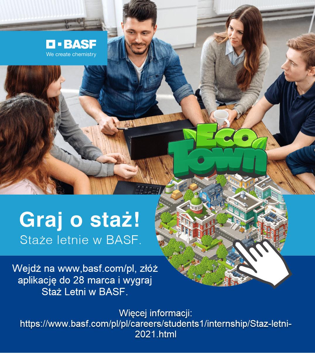 Graj o staż letni w BASF Polska!