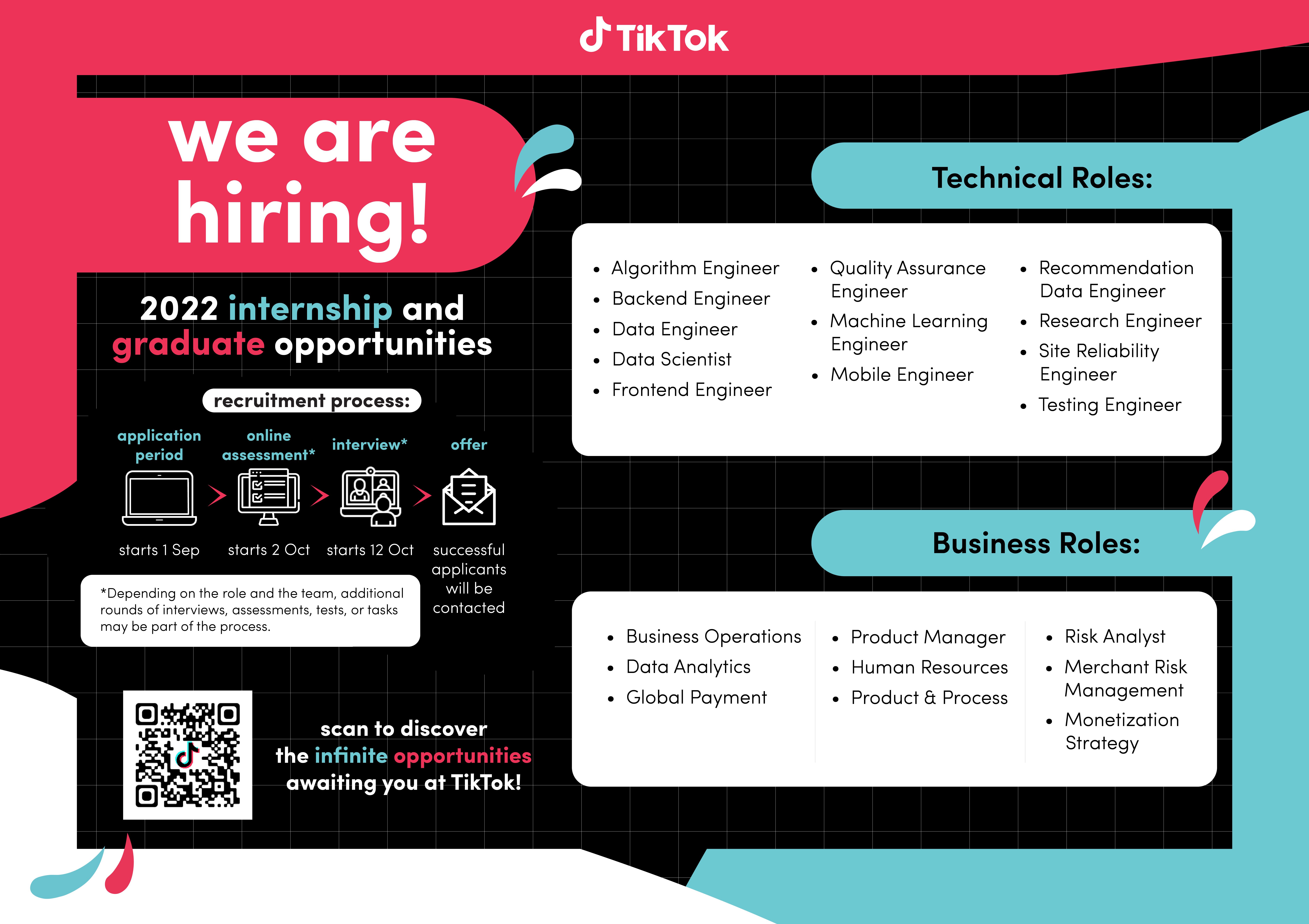 Singapore TikTok Campus Recruitment 2022